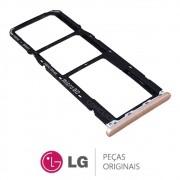 Slot / Bandeja do Chip Dourado Celular / Smartphone LG K11 LMX410BCW