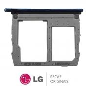 Slot / Bandeja do Chip e Micro SD Azul Celular LG K12 MAX K12 PRIME