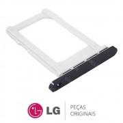 Slot / Bandeja do Chip Prata Celular / Smartphone LG Q6 LGM700TV