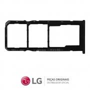 Slot / Bandeja do Chip Preta Celular LG K50S LMX540BMW