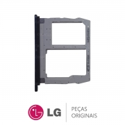 Slot / Bandeja do Chip Preto Celular LG K12 PLUS
