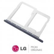 Slot / Bandeja do Chip Preto Celular / Smartphone LG Q6 LGM700TV
