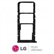 Slot / Gaveta do Chip e Micro SD Preto Celular / Smartphone LG K11 LMX410BCW