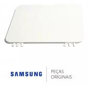 Tampa Branca do Compartimento do Filtro para Lavadora e Lava e Seca Samsung Diversos Modelos