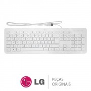 Teclado com Fio USB KB25 Branco LG