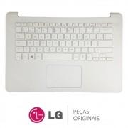 Teclado Com Gabinete Superior Branco Notebook LG 14U380