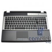 Teclado em Português Brasileiro com Gabinete Superior e TouchPad para Notebook Samsung NP-RF511