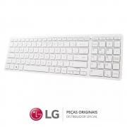 Teclado + Mouse Sem Fio V320 Branco + Receptor de Sinal All In One e Notebook LG