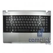 Teclado Padrão Brasileiro com Gabinete Superior e Touch Pad para Notebook RV411, RV415, RV420
