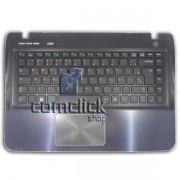 Teclado Padrão Português Brasileiro com Gabinete Superior e Touch Pad para Notebook Samsung NP-SF410