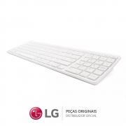 Teclado Sem Fio V320 Padrão ABNT2 BR Branco All In One e Notebook LG