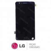 Tela / Display com Moldura e Touchscreen Preta Celular LG K8 LGX240DS