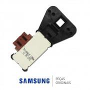 Trava da Porta 110V Lavadora e Lava e Seca Samsung WD0854, WD106U, WD856U, WD8854, WF106U, WF1124