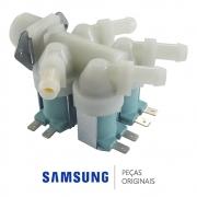 Válvula de Entrada de Água 4 Vias 120V DC62-00214Q Lava e Seca Samsung WD10J6410AW WD10K6410OW