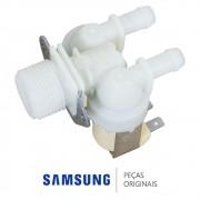 Válvula de Entrada de Água Dupla 220v para Lavadora Samsung WF106U4SAWQFAZ
