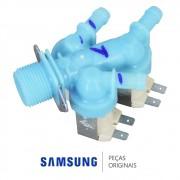 Válvula de Entrada de Água Tripla 220V Lavadora e Secadora Samsung WD0854, WD106UH, WD136UV, WD6122