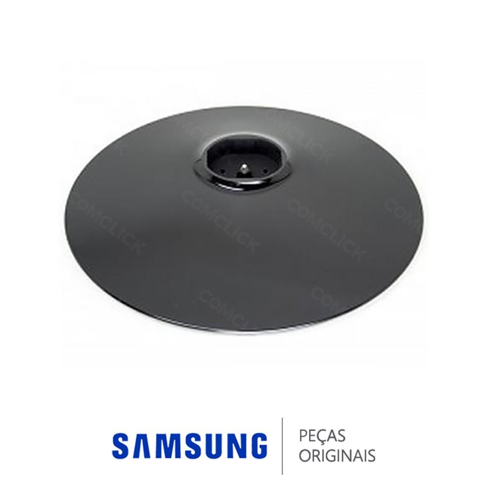Base Inferior Circular Preta para Monitor Samsung S16B110N, B1630N, S19A300B, BX1930N, B1930N, BX1931N, S20A300B, BX2030N, B2030