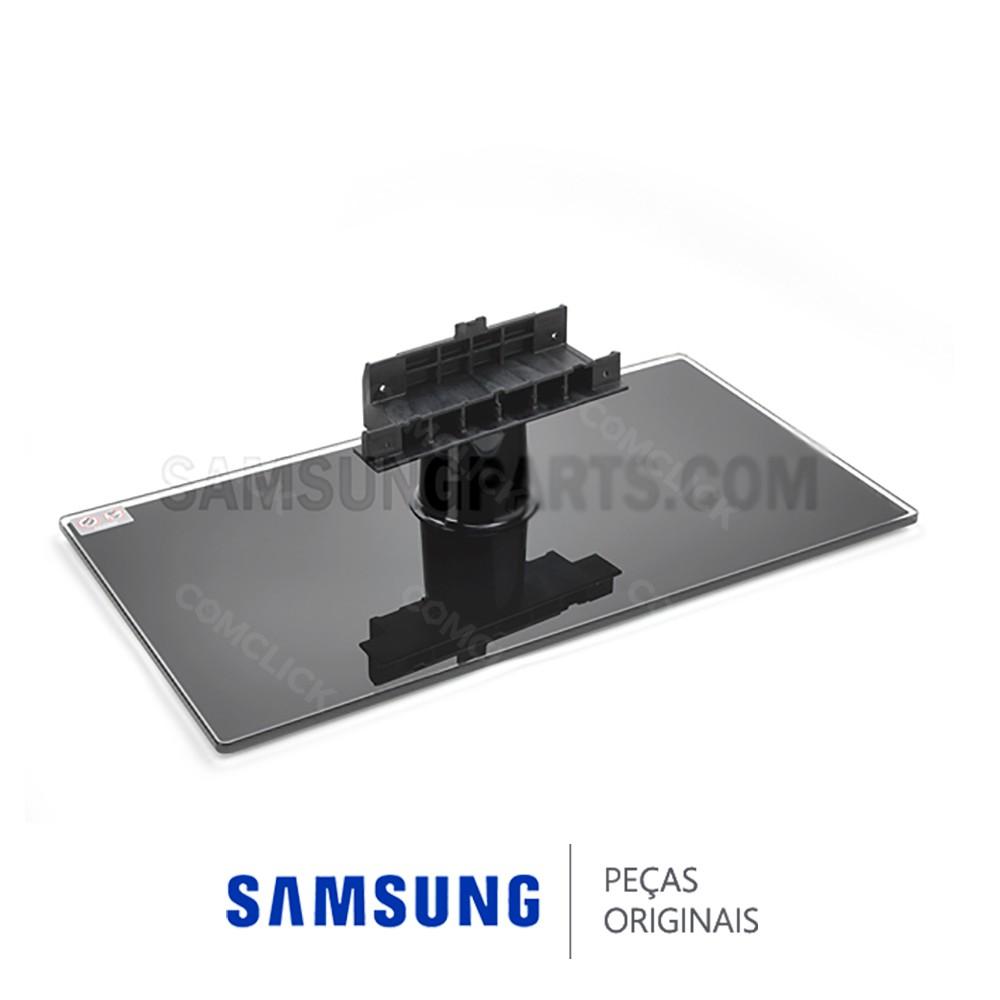 Base Retangular em Vidro Temperado com Pino Superior para TV Samsung LN52B550K1M, LN52B550K1V