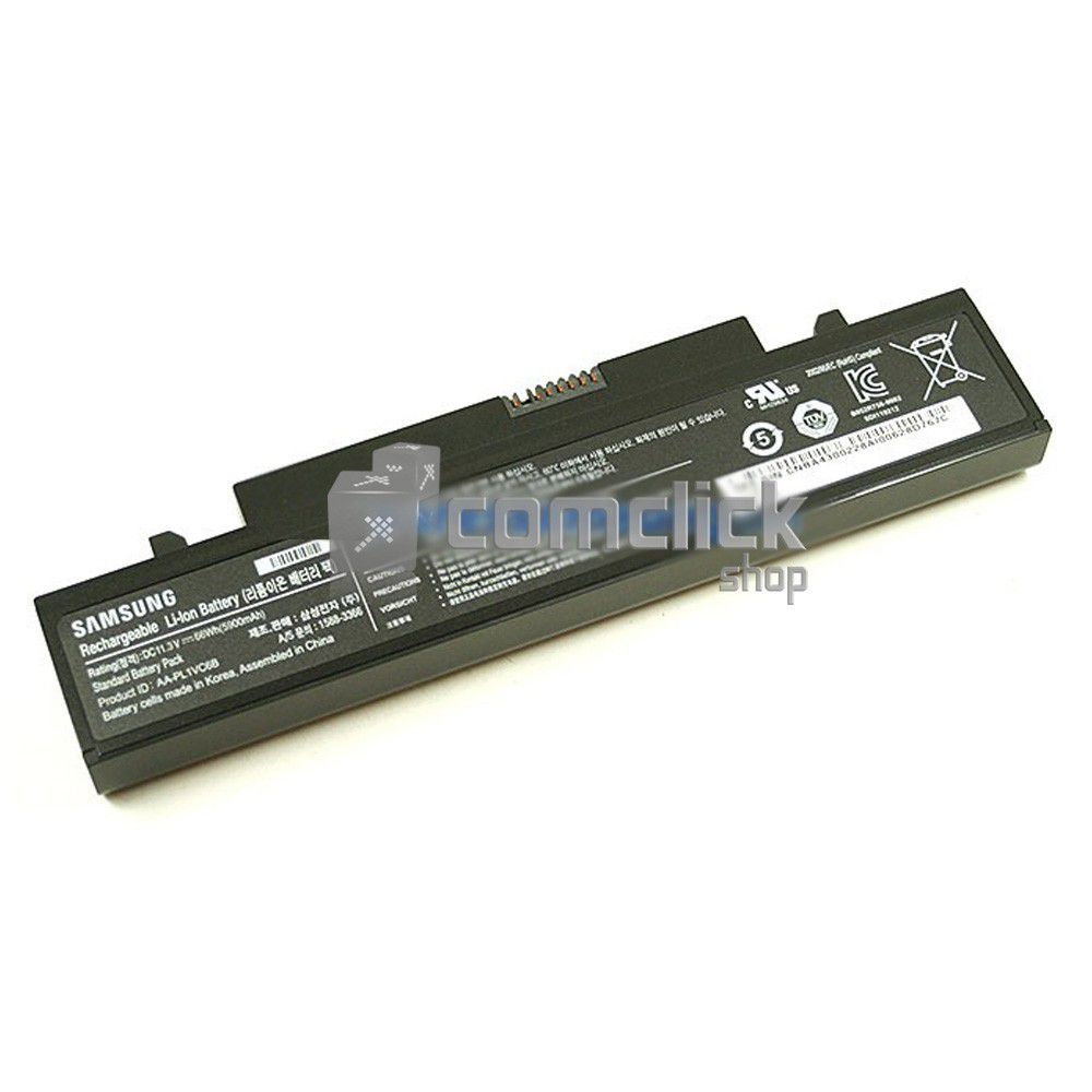 Bateria Preta de 6 Células AA-PL1VC6B 11,3V 5900 MAH para Notebook Samsung NP-X420