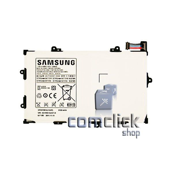 Bateria SP397281A 3,7V 5100mAh para Tablet Samsung GT-P6800 GALAXY TAB. 7.7