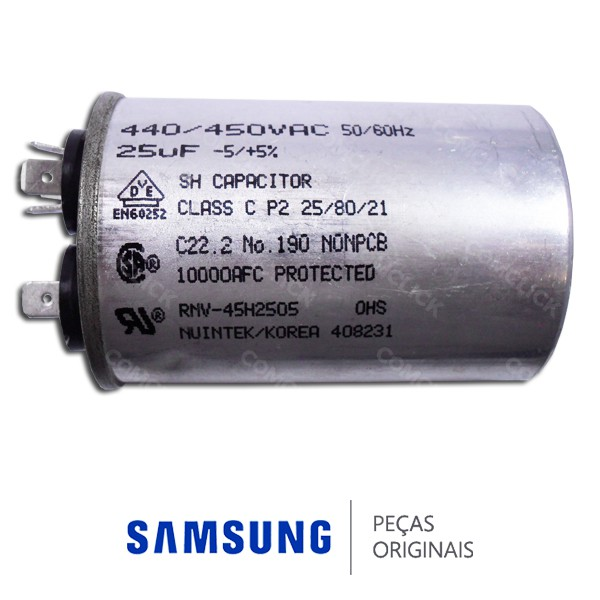 Bobina 440/450VAC / 25UF / -5/+5% para Ar Condicionado Samsung Diversos Modelos