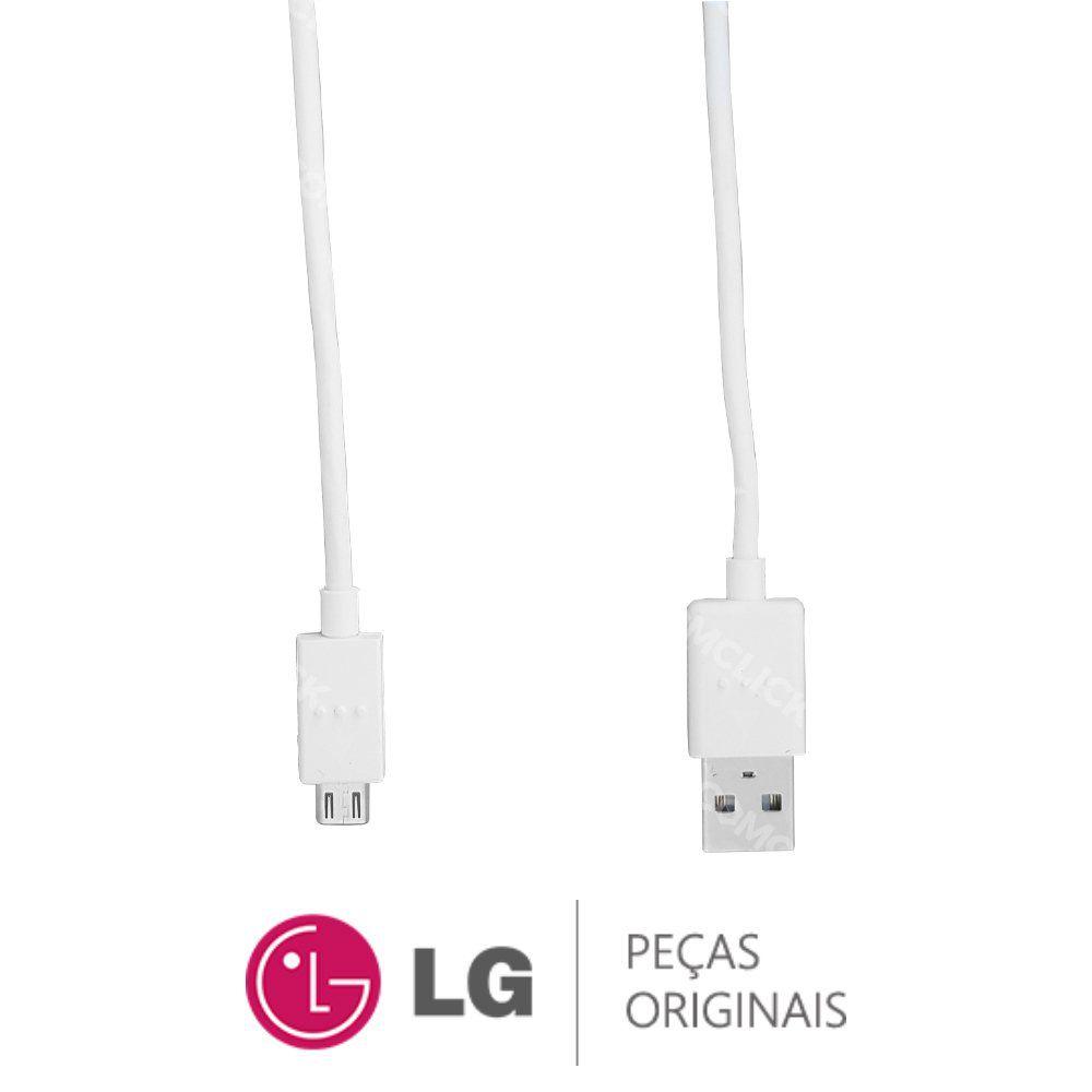 Cabo USB 3.0 1 Metro Branco Original Smartphone LG LGM700TV LG Q6, LGK580DSF LG XCAM