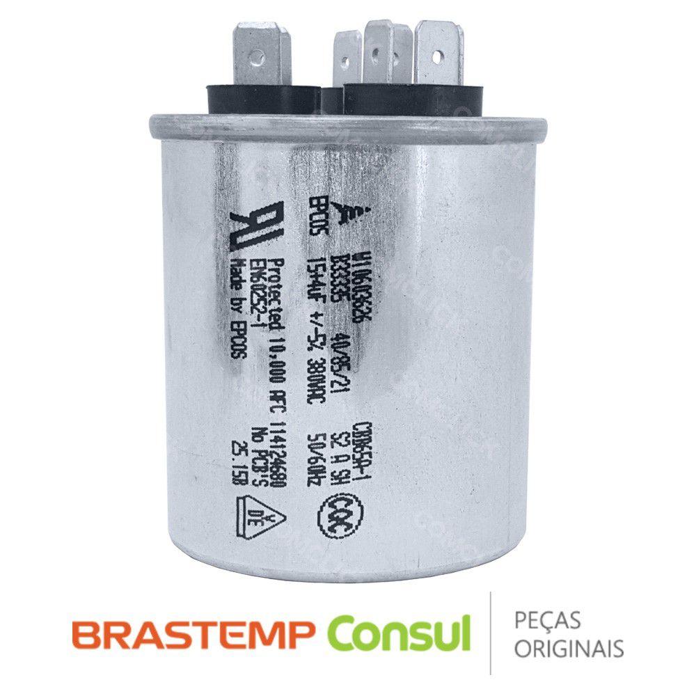 Capacitor Compressor 15 + 4uF 380VAC 326040052 W10771532 W10603626 Ar Condicionado Brastemp Consul