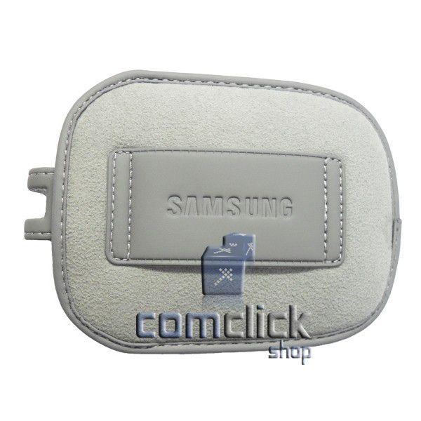 Case, Bolsa de Proteção Cinza para Câmera Digital Samsung Série PL, ES, ST