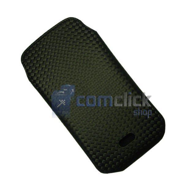 Case Preto de Nylon para Celular Samsung