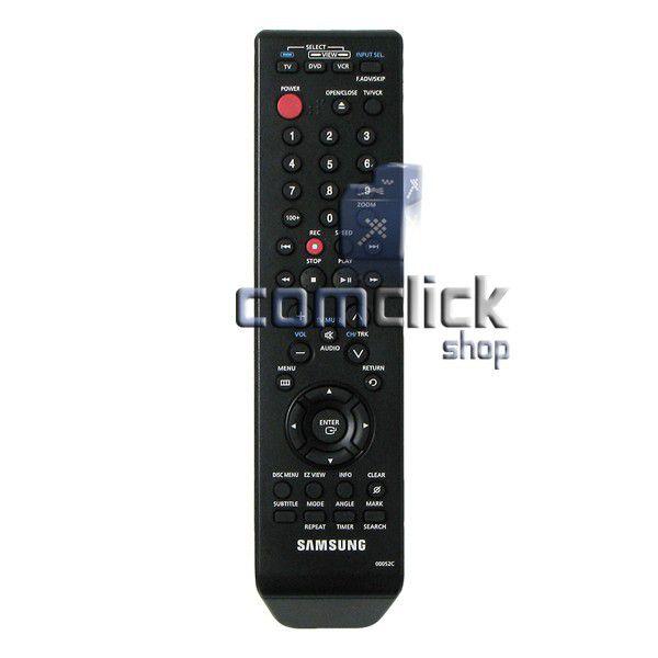 Controle Remoto para DVD Samsung V3650, V4600, V5500, V9650, V9600