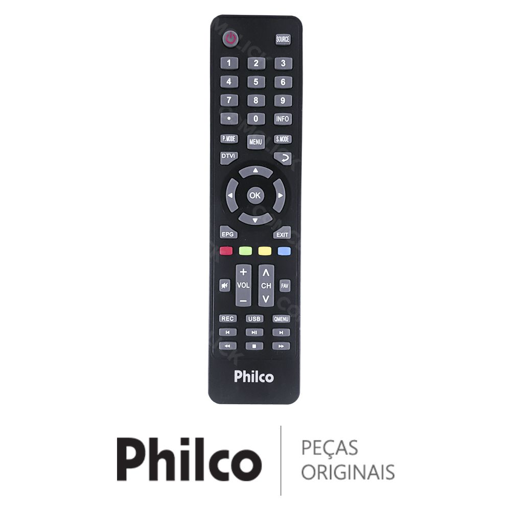Controle Remoto Tv Philco PH14E10D, PH16D10D, PH20U21D
