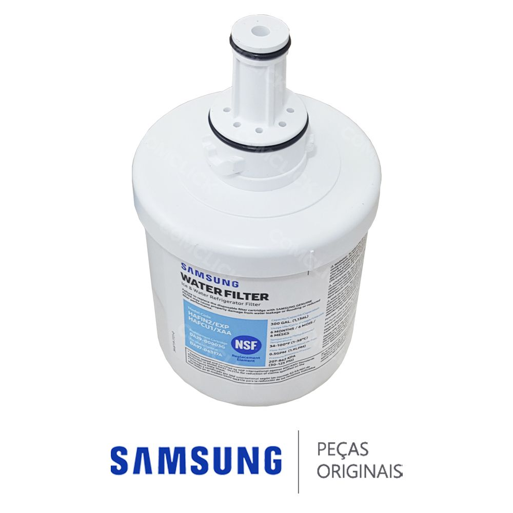 Filtro de Água HAFIN2/EXP (DA29-00003B DA29-00003G) AQUA PURE PLUS Refrigerador Samsung Side by Side