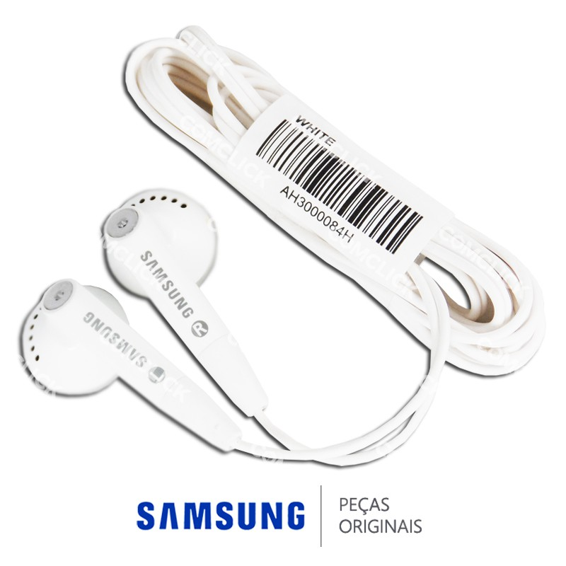 Fone de Ouvido Branco Estéreo 3,5mm para MP3 Samsung Diversos Modelos