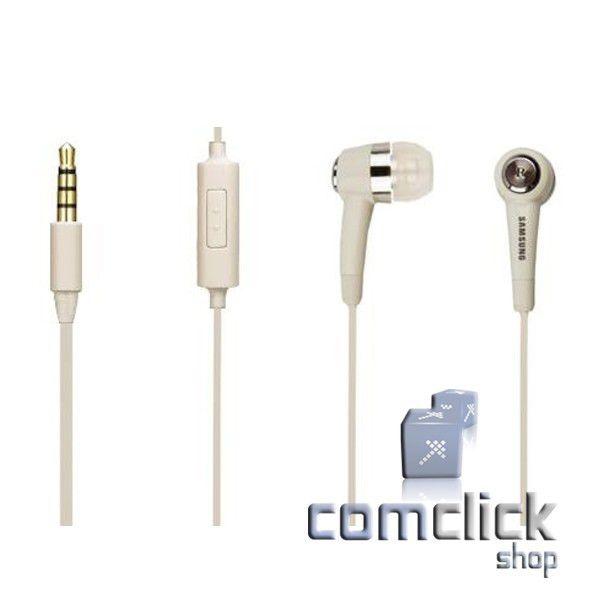 Fone de Ouvido Intra Auricular Branco Celular Samsung GT-B3210, GT-B3310, GT-I9000, GT-I9100