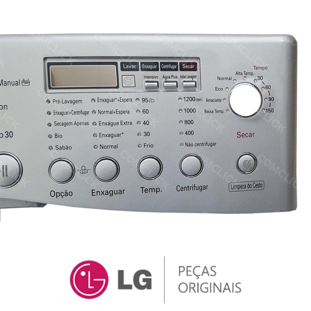 Gabinete Frontal / Painel Prata Lava e Seca LG WD-12596RDA