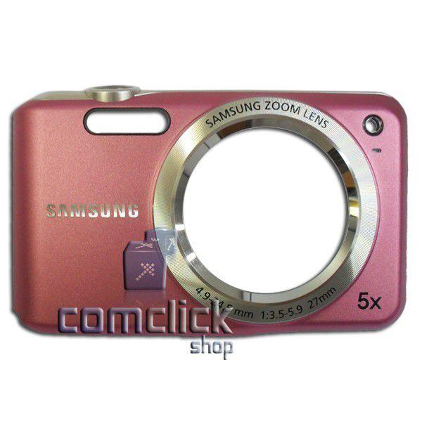 Gabinete Frontal Rosa para Câmera Digital Samsung ES70