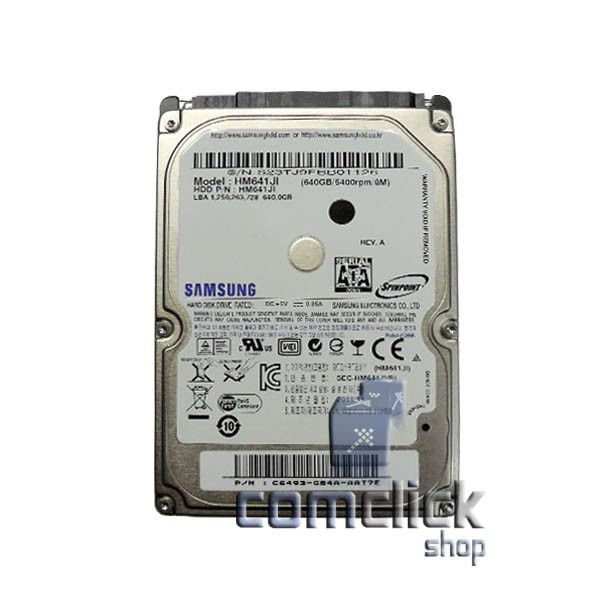 HD Interno 640GB Samsung para Notebook Diversos Modelos