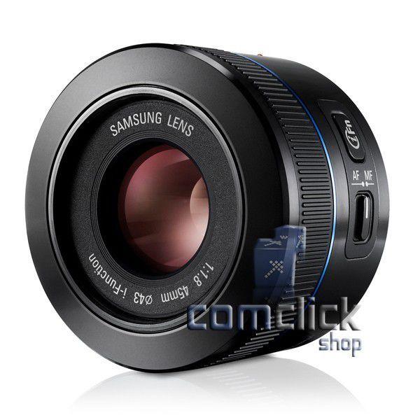 Lente Externa EX-S45ANB 45MM F1.8 Preta para Câmera Samsung NX100, NX1000, NX20, NX210, NX300, NX1100, NX2000, NX10