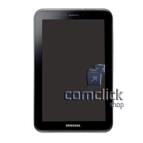 Módulo Frontal com Display LCD e Gabinete Frontal Preto para Tablet Samsung GT-P3110 GALAXY TAB 2