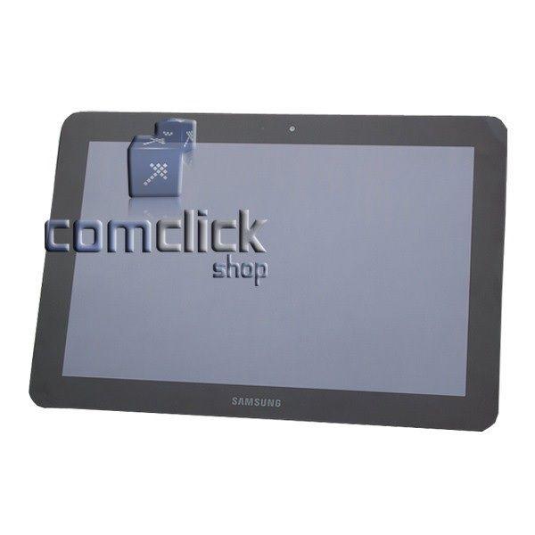 Módulo Frontal com Display LCD, TouchScreen e Gabinete Frontal Preto para Samsung GT-P7500L