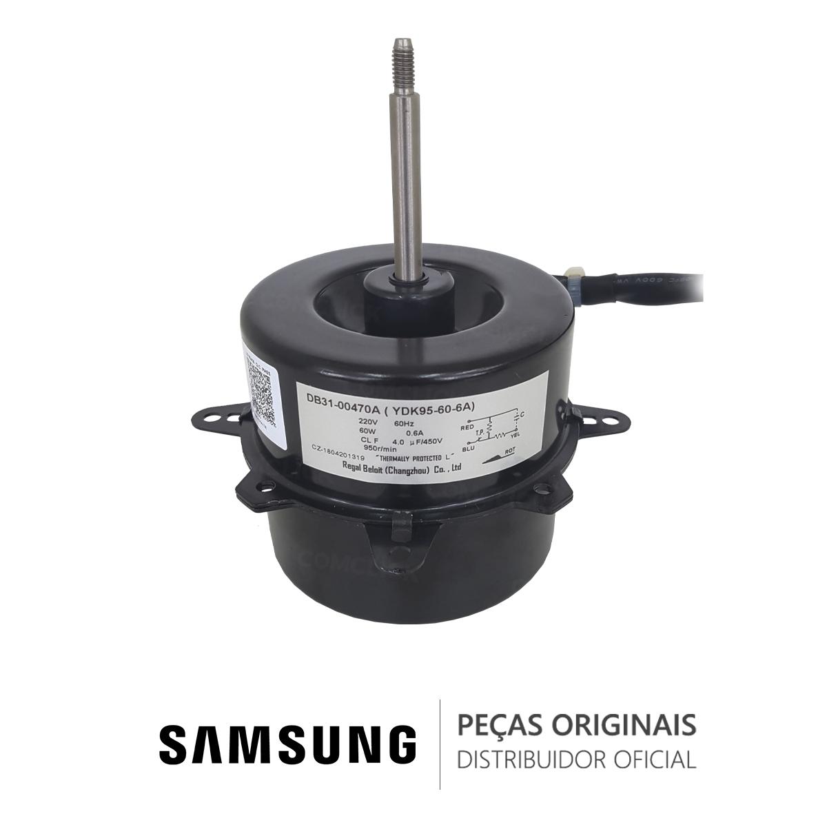 Motor do Ventilador YDK95-60-6A da Unidade Condensadora para Ar Condicionado Samsung 24.000 BTUS