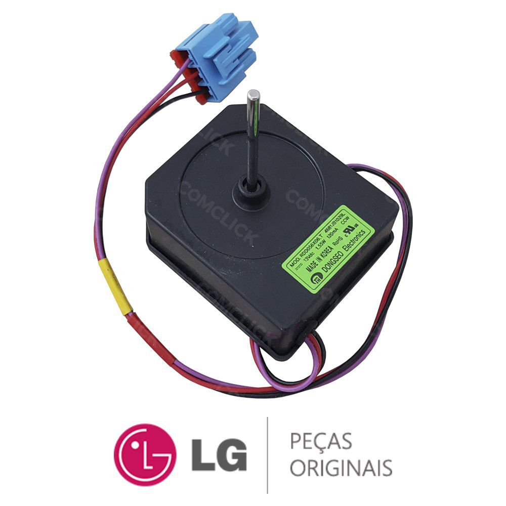 Motor Ventilador Externo 13VDC RDD056X06.T Refrigerador LG GC-L207BSKV, GC-L217BSKV, GC-P216BSK1