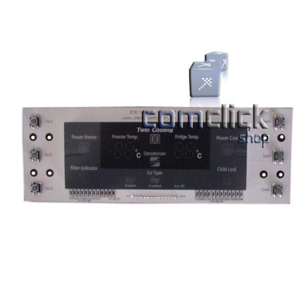 Placa de Controle do Painel da Porta do Freezer para Refrigerador Samsung RS21DAMS1, RS21DAMS2, RS21DASW1, RS21DASW2, RS21FASM1,
