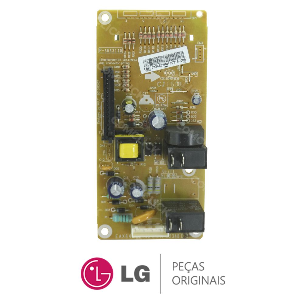 Placa Display / Interface 110/220V EBR75234882 Micro-ondas LG MS3049L, MS3059LA, MS3052RA