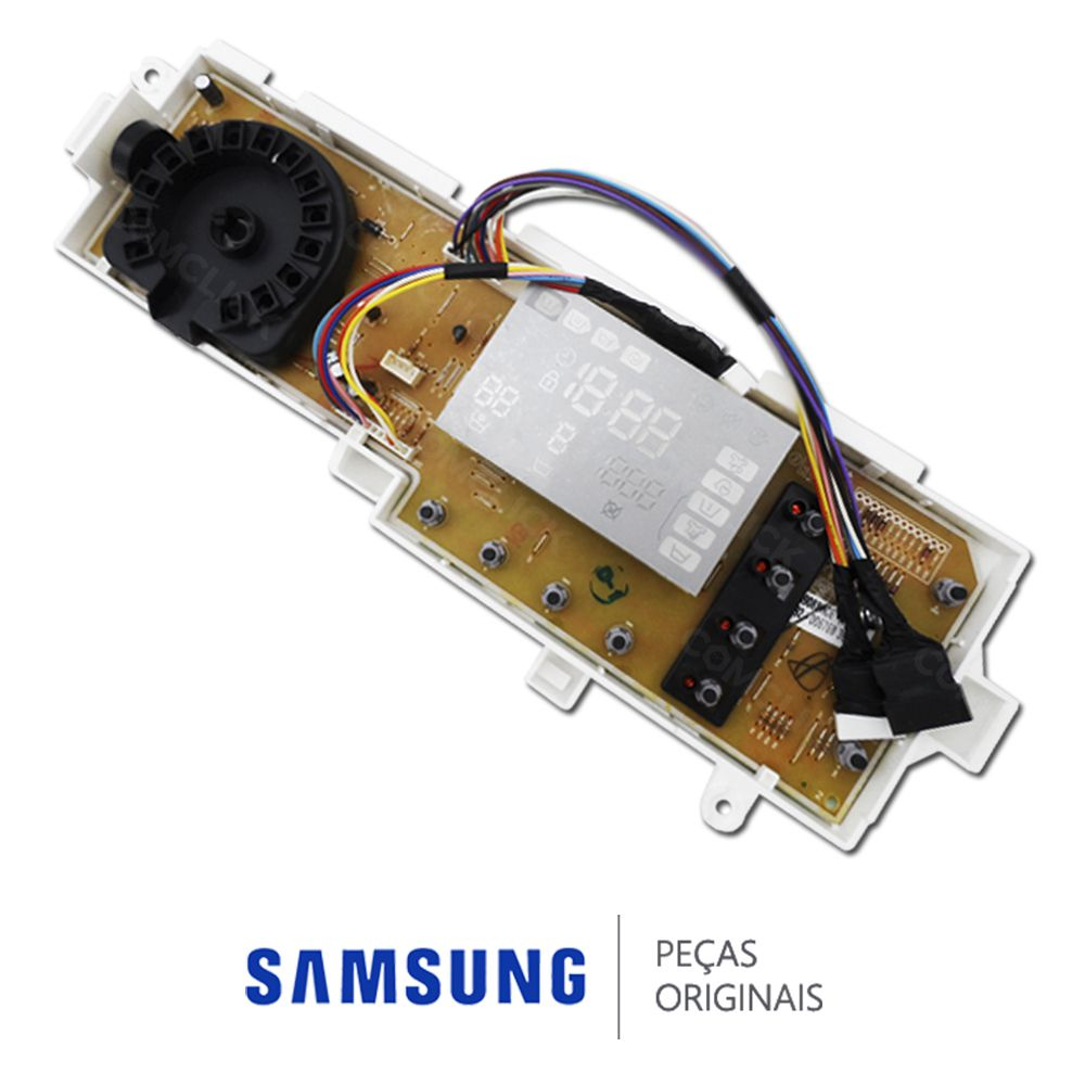 Placa Display  / Interface 110/220v para Lavadora Samsung WF1124XBC, WF1124XBCF