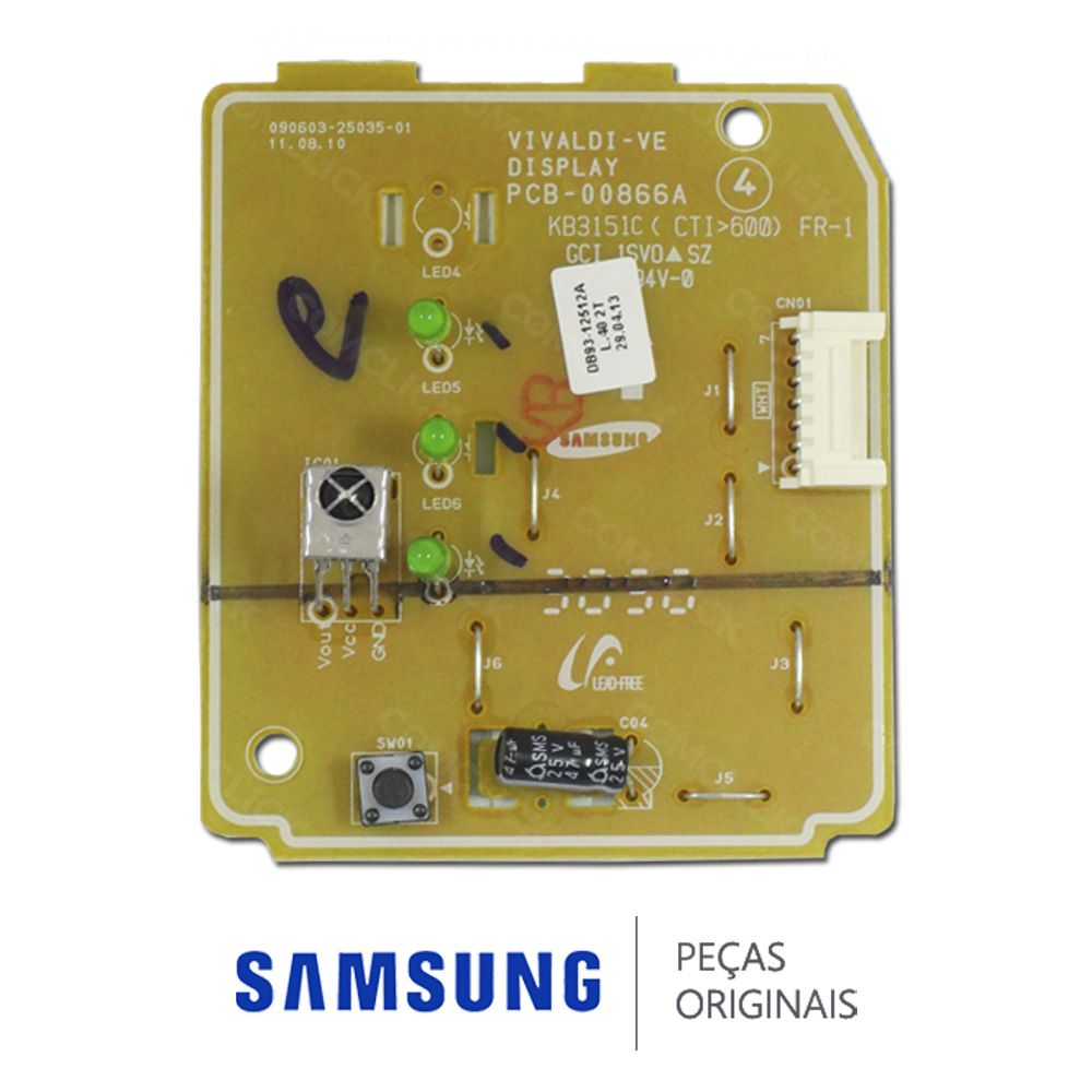 Placa Display / Receptora para Ar Condicionado Split Samsung MAX PLUS 9000, 12000, 18000, 24000 BTUS