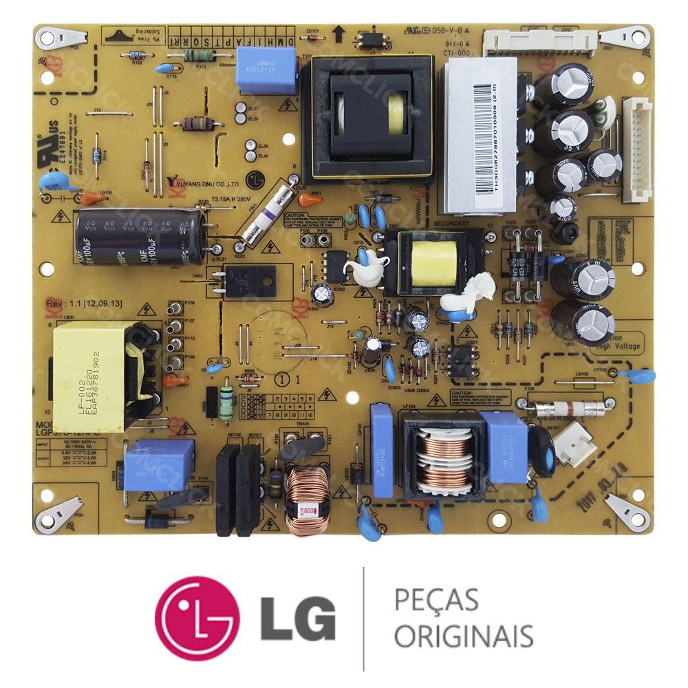 Placa Fonte LGP37C-12HPC / EAY62788701 / EBT62162901 TV LG 32LT360C, 32LT560E, 32LT560H, 32LT760H