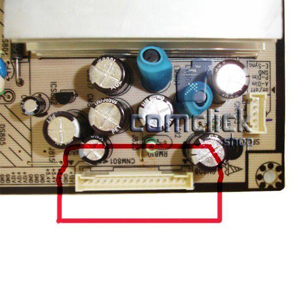 Placa PCI Fonte Flat Uma Linha para TV Samsung LN40R71BAX, LN40R71BC, LN40R71BX