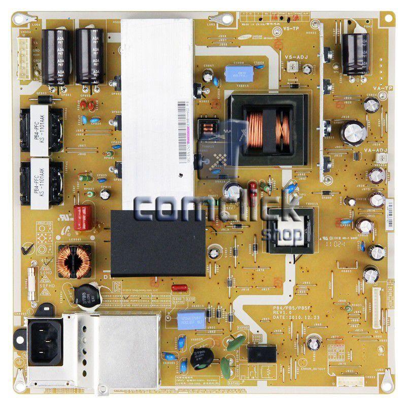 Placa PCI Fonte para TV Samsung PL43D450A2GXZD, PL43D451A3GXZD, PL43D490A1GXZD, PL43D491A4GXZD