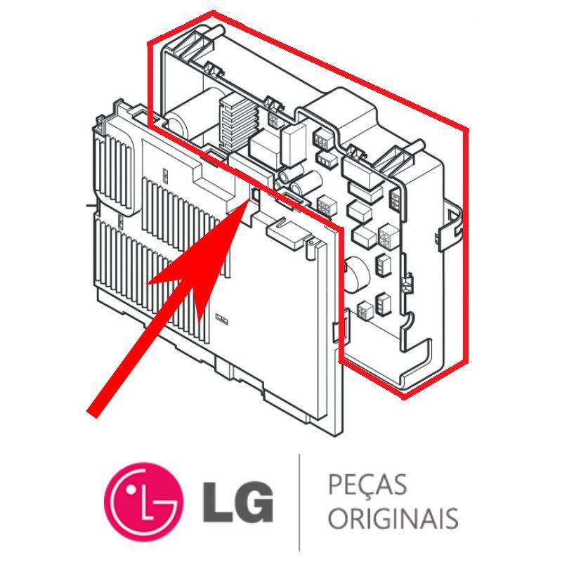 Placa Principal / Potência Lava e Seca LG TwinWash WD17VTS6